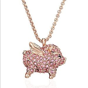 (NWT) Kate Spade Pave Pig Mini Pendant Necklace